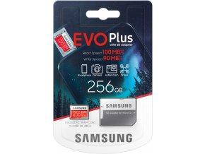 Samsung EVO Plus Micro SDXC 256 GB UHS I U3 + adaptér 1