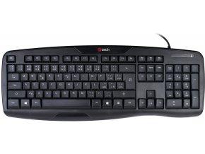 C TECH klávesnice Wired Ergo KB 107 USB, CZSK 1