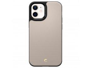 Ochranný kryt pro iPhone 12 Spigen Leather Brick Stone Kožený 1