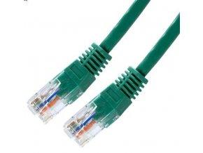 Síťový kabel, UTP 1 m, Zelený