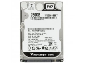 HDD 250GB, SATAII, 32MB cache, 2.5''