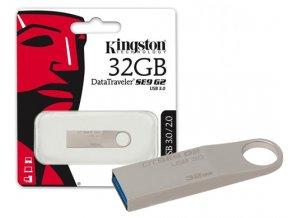 Kingston 32GB DataTraveler flash disk USB DTSE9 (2. generace, USB 3.0) - kovový kryt