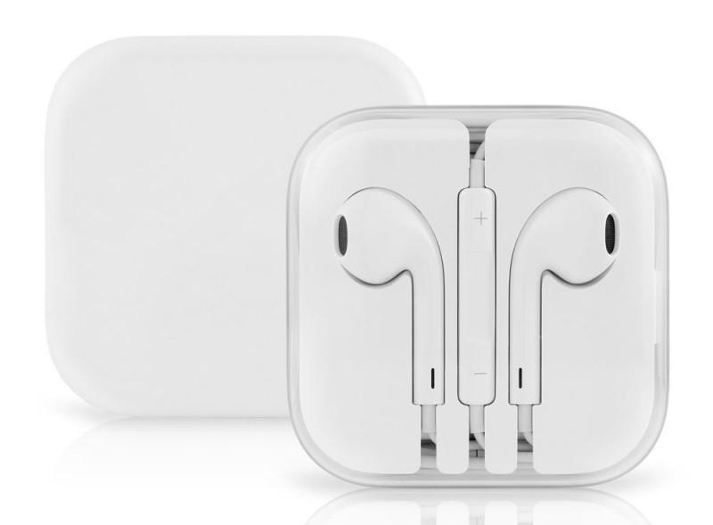Sluchátka s ovládáním a mikrofonem pro Apple - bílá