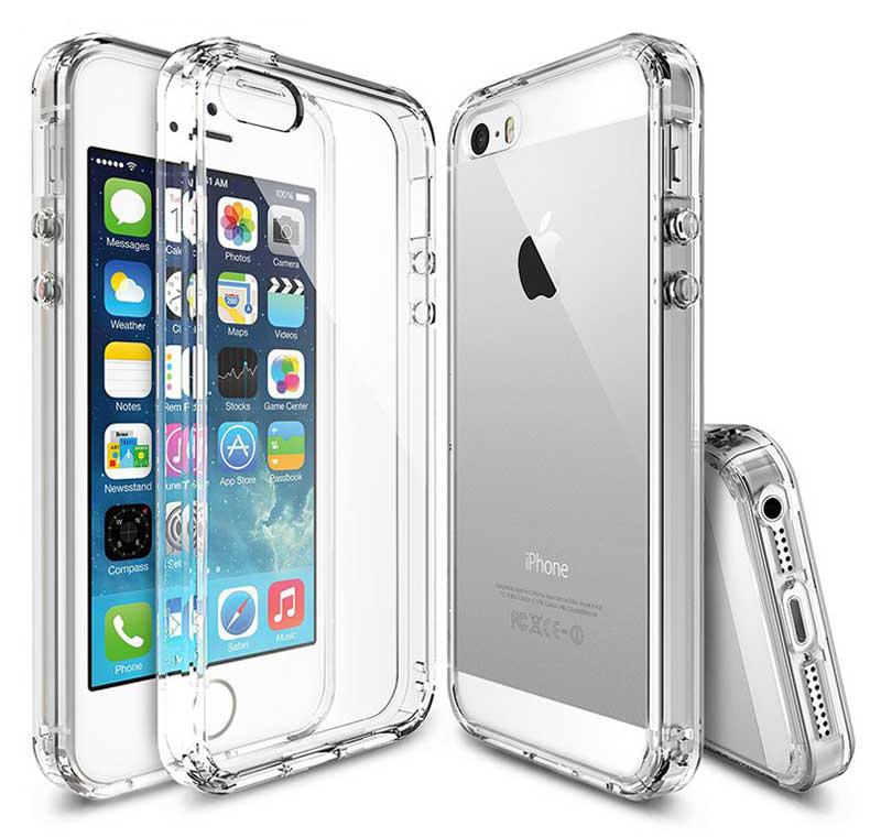 Ochranný kryt pro Apple iPhone 5/5s transparentní