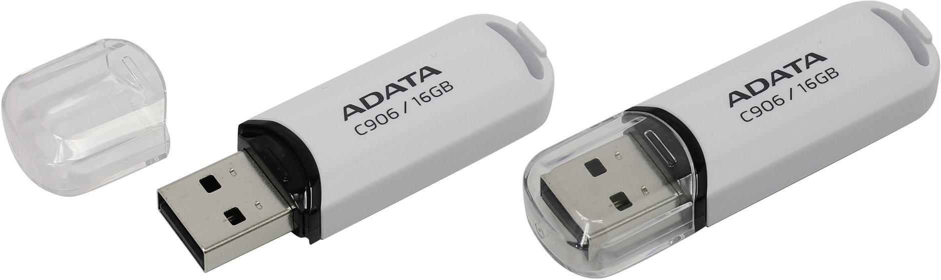 ADATA Flash Disk 16GB USB 2.0 Classic C906, bílý