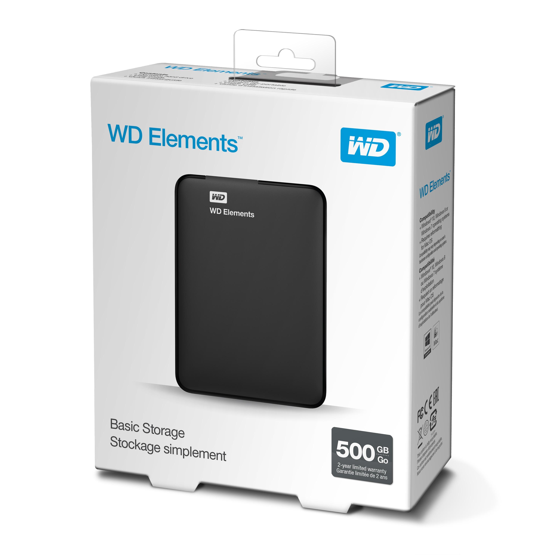 "WD Elements Portable 500GB Ext. 2.5"" USB3.0, Black"