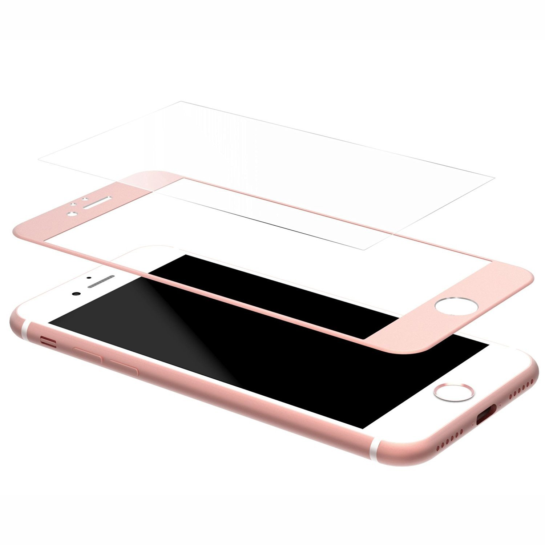 Ochranné 3D tvrzené sklo pro Apple iPhone 6 a 6s - Růžovo-zlaté