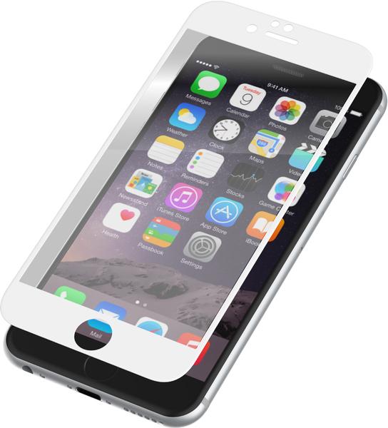 Ochranné 3D tvrzené sklo pro Apple iPhone 6 a 6s - Bílé
