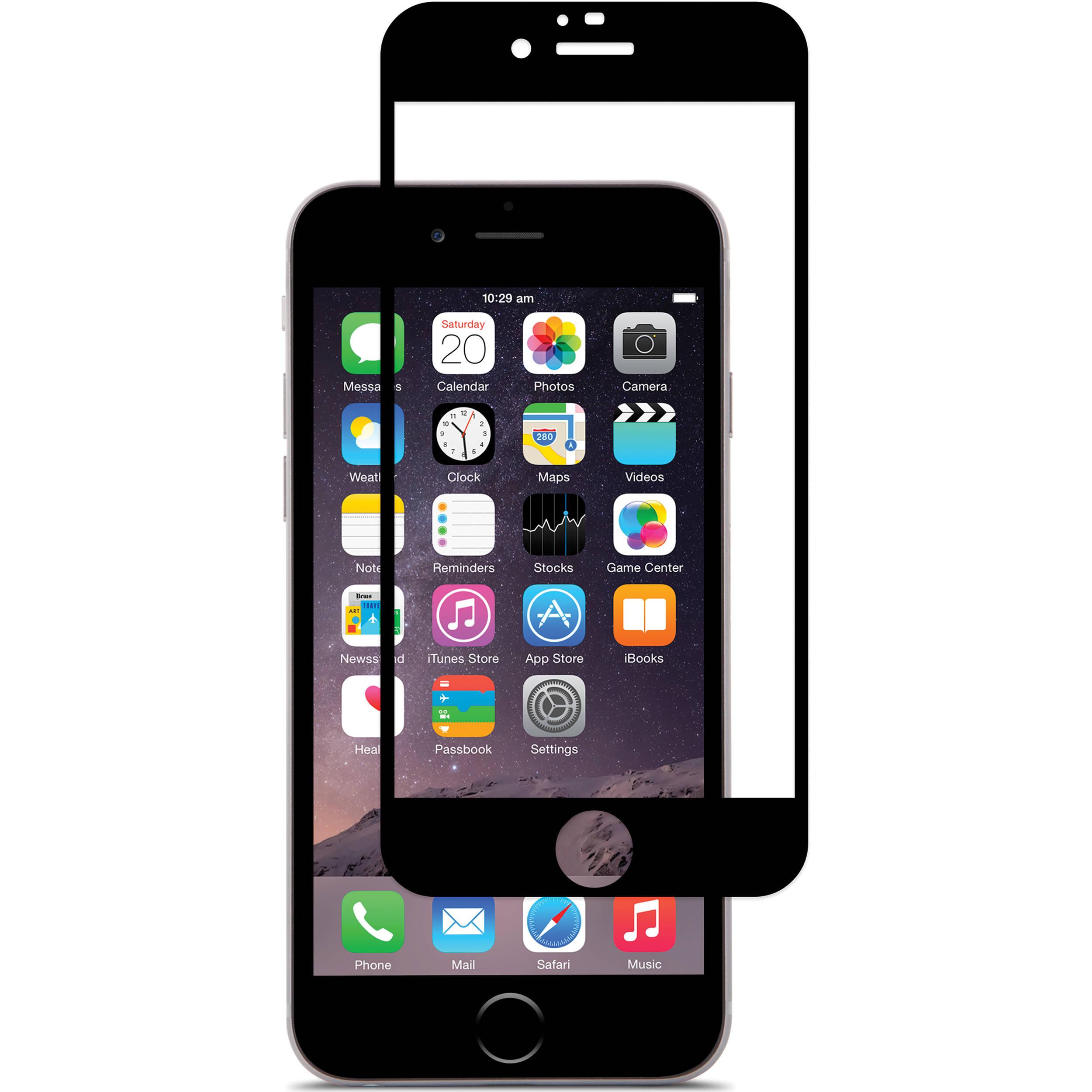 Ochranné 3D tvrzené sklo pro Apple iPhone 6 a 6s - Černé