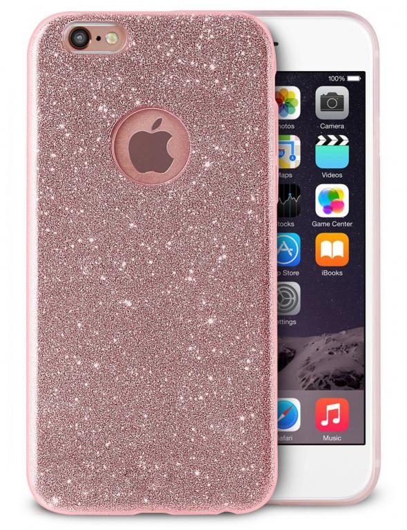 Ochranný kryt pro Apple iPhone 6/6s - Třpytivě růžový