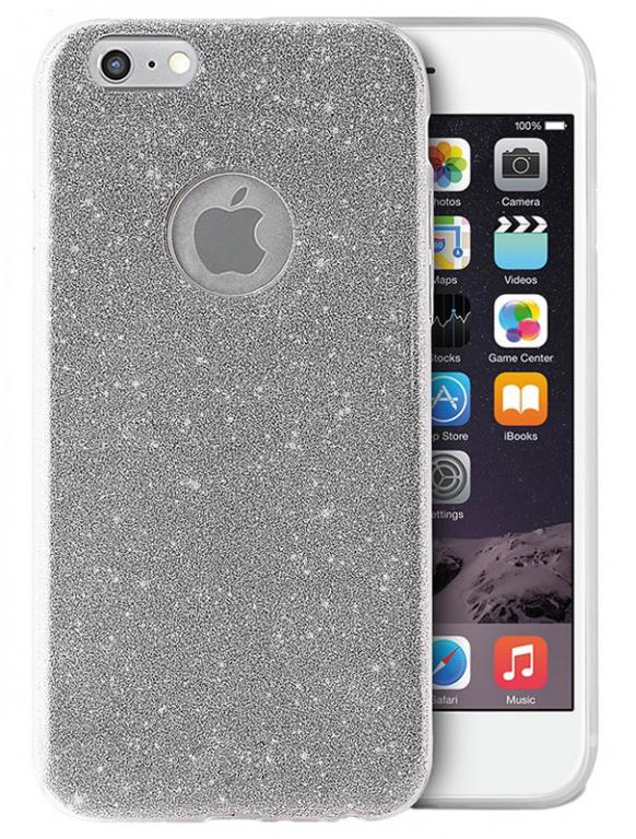 Ochranný kryt pro Apple iPhone 6/6s - Třpytivě stříbrný