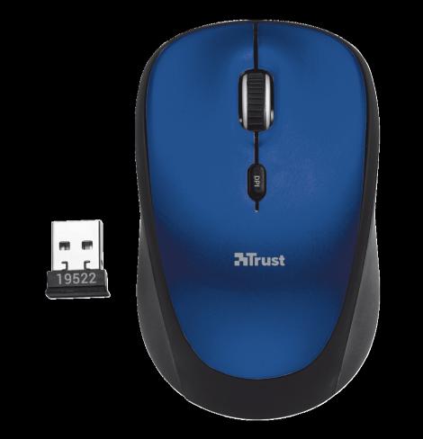 Bezdrátová Myš TRUST Yvi Wireless Mouse - Modrá