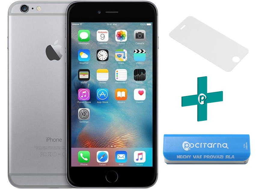 Apple iPhone 6 16GB Space Gray + Powerbanka 2200 mAh Zdarma