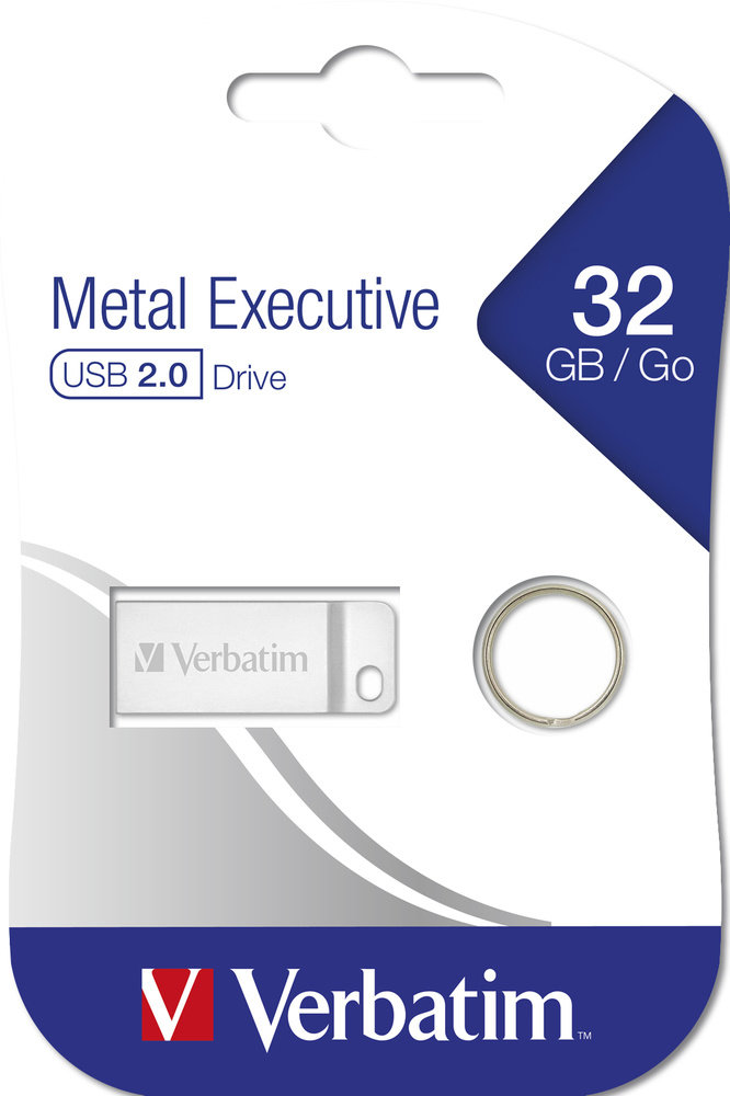 Verbatim Metal Executive Flash Disk 32GB USB 2.0 - Kovový