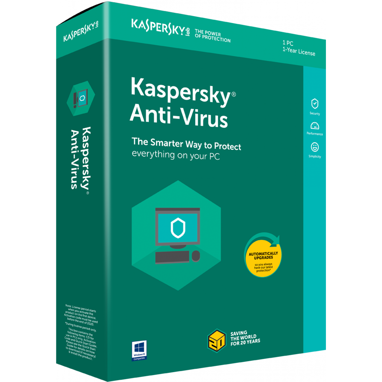 Kaspersky Anti-Virus 2018, CZ, 1 PC, 1 Rok