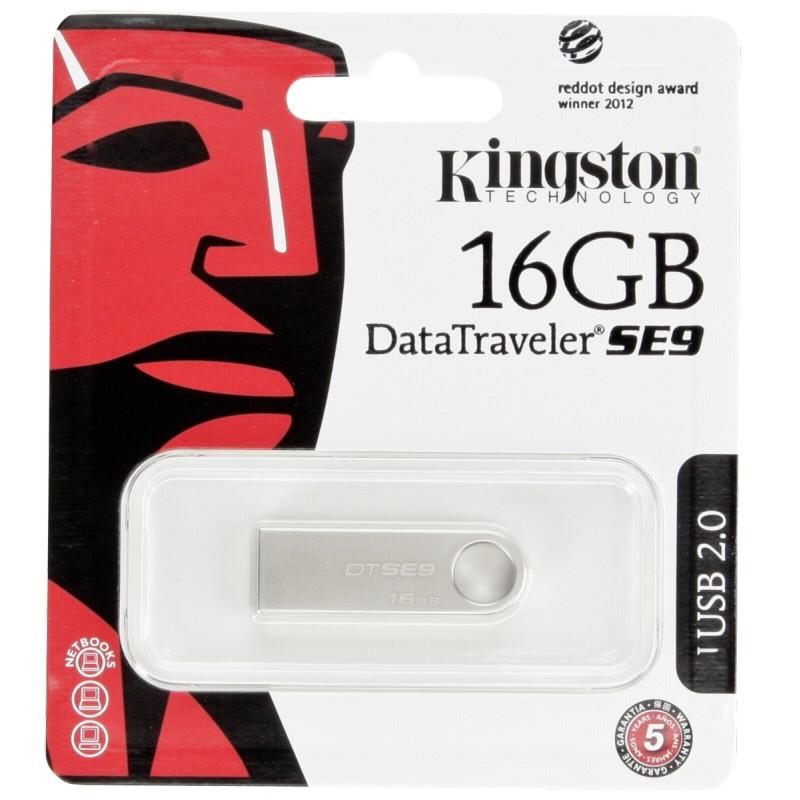 Kingston 16GB DataTraveler flash disk USB DTSE9 (USB 2.0) - kovový kryt
