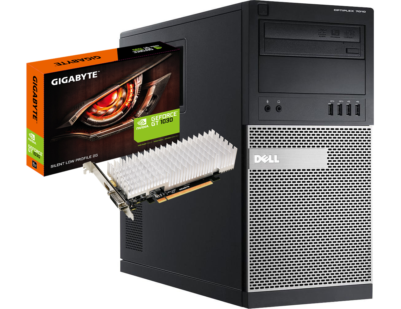 DELL Optiplex 7010 + Gigabyte Nvidia Geforce GT 1030