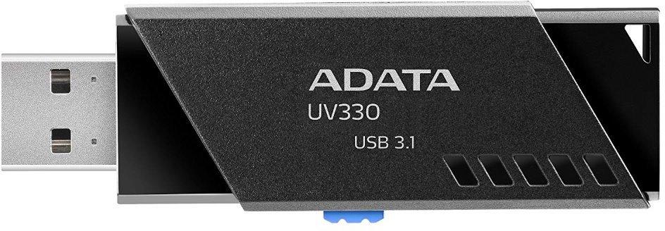 ADATA UV330 Flash Disk 64GB, USB 3.1, Černá