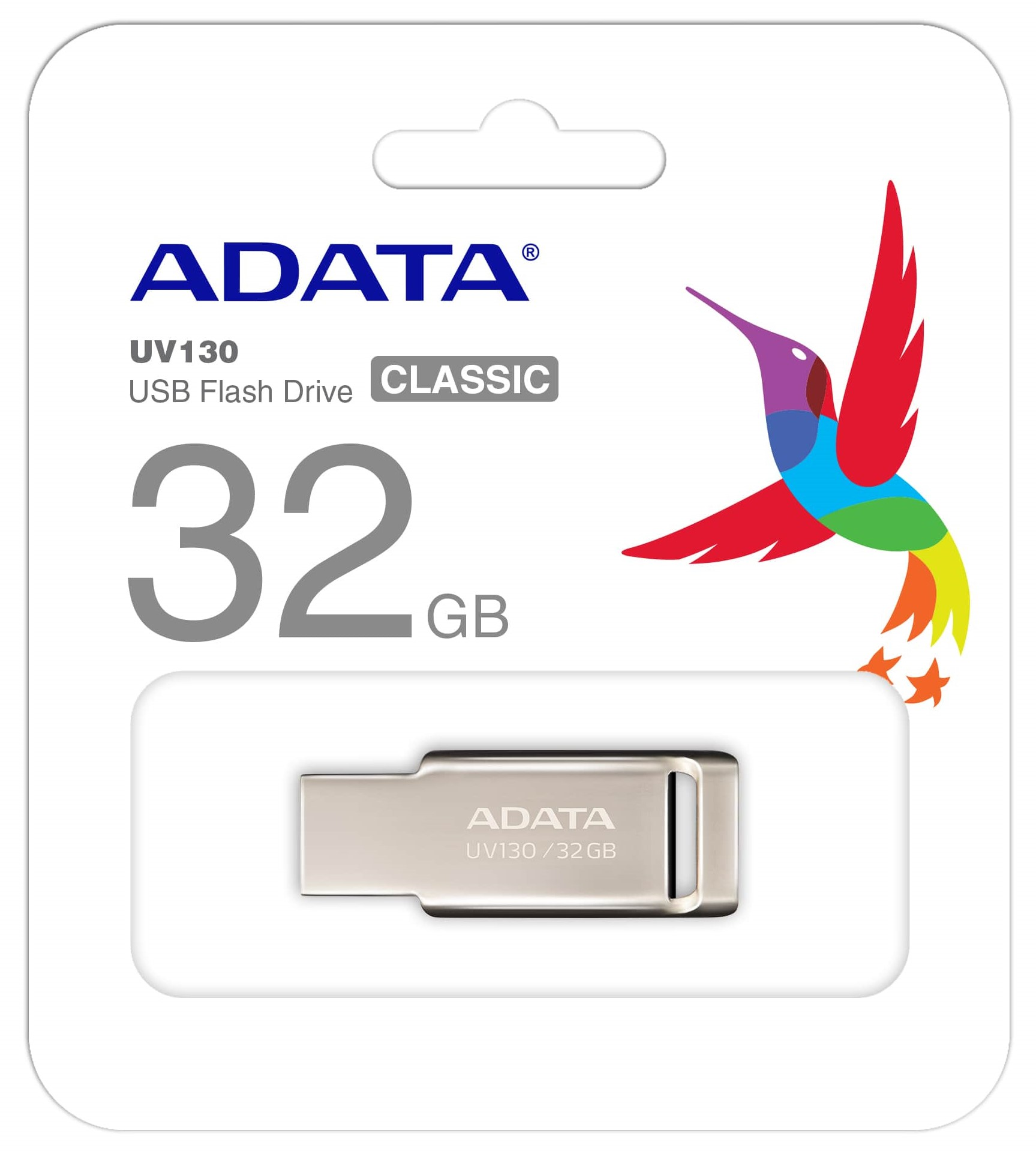 ADATA UV130 USB Flash Disk 32GB, USB 2.0 - Kovový