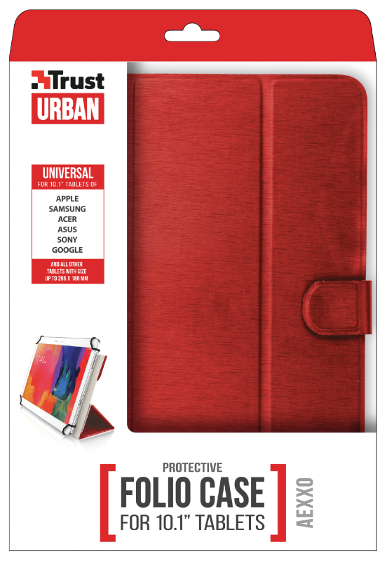 "Trust Aexxo Universal Folio Case 10,1"" - Červená"