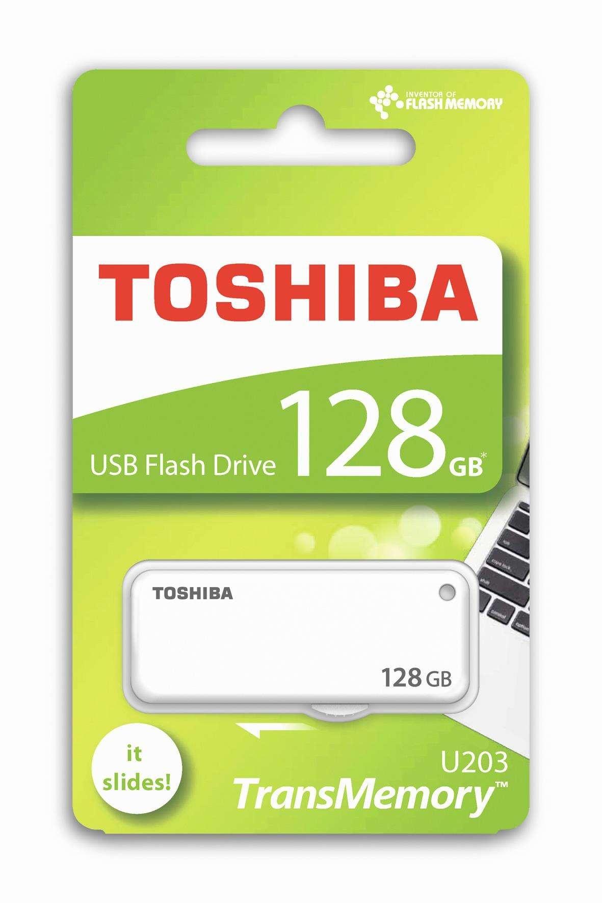 TOSHIBA U203 Flash Disk 128GB, USB 2.0 - Bílý