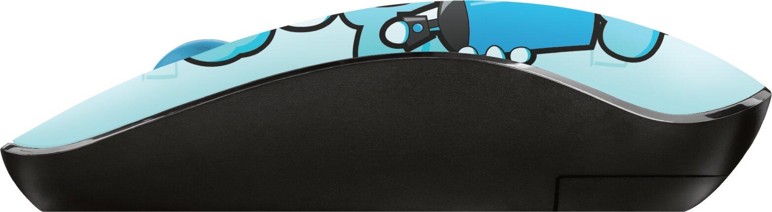Bezdrátová Myš Sketch Silent Click Wireless Mouse - Modrá