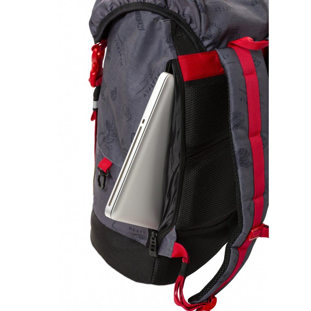 Batoh Meatfly Pioneer 3 Backpack B - Stamps Grey