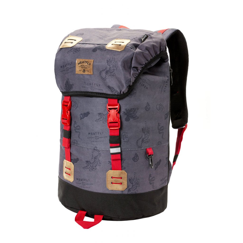 Batoh Meatfly Pioneer 3 Backpack B - Stamps Grey