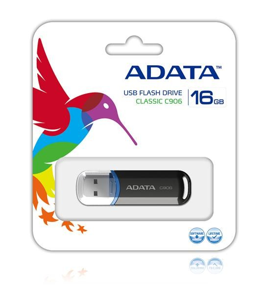 ADATA Flash Disk 16GB USB 2.0 Classic C906, černý