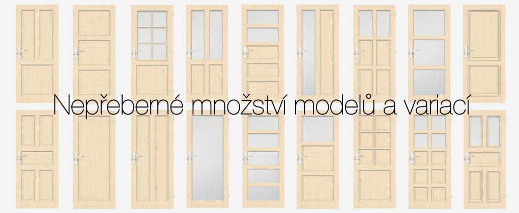 Různé modely dveří