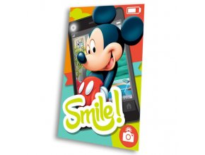 fleece deka mickey smile polyester 100 150 cm
