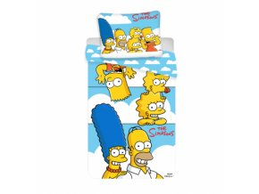 simpsons clouds bed set 140x200 90x70 zuz