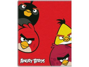 Fleece deka Angry Birds Red 120/150