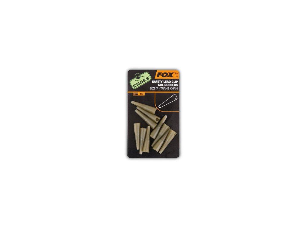EDGES™ Lead Clip Tail Rubbers (Varianta EDGES™ Lead Clip Tail Rubbers - Size 7 Khaki)