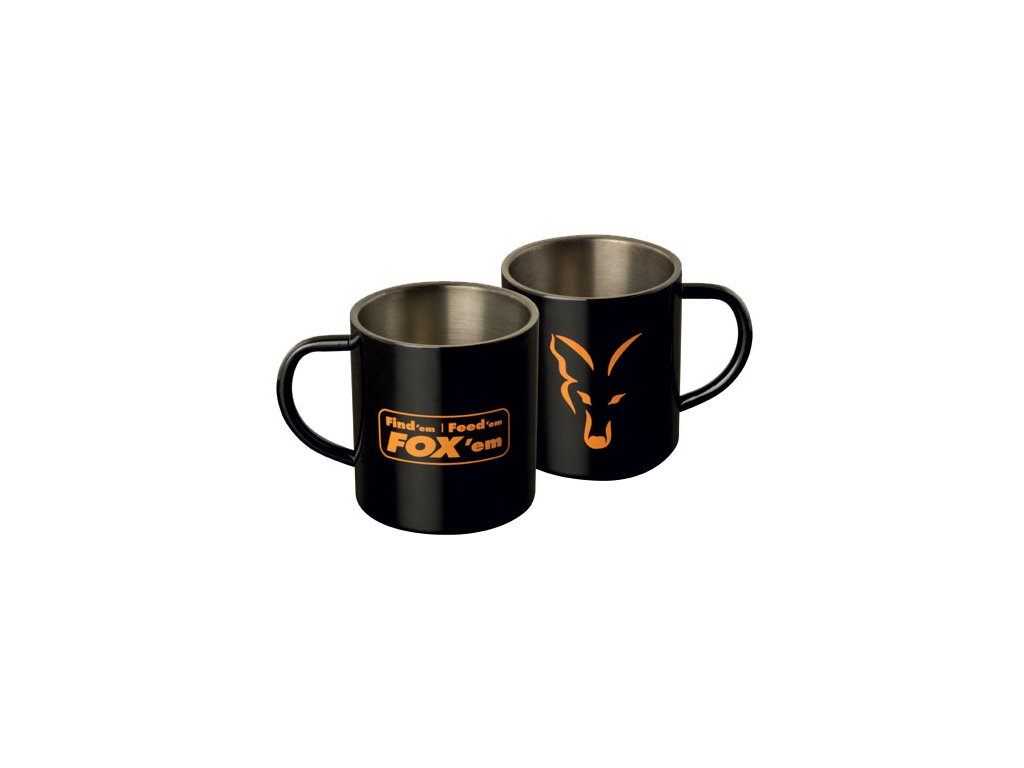 FOX Stainless Steel Mug (Varianta FOX Stainless Steel Mug - 400ml)