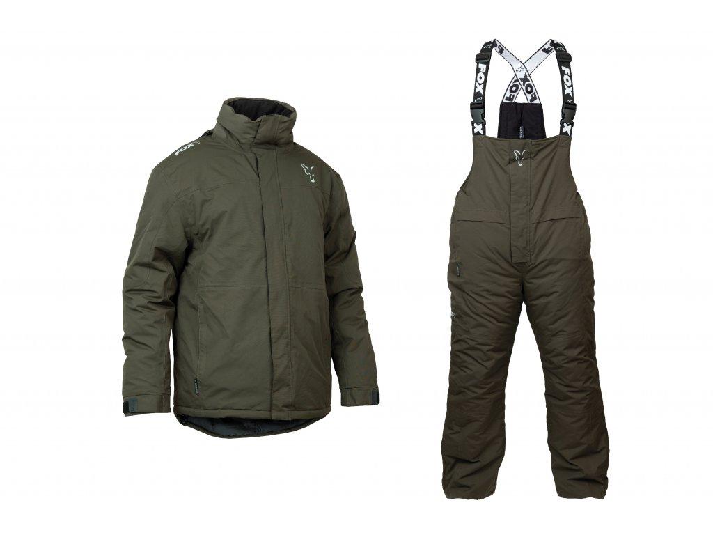 Green & Silver Winter Suit (Varianta FOX Carp Winter suit - S)