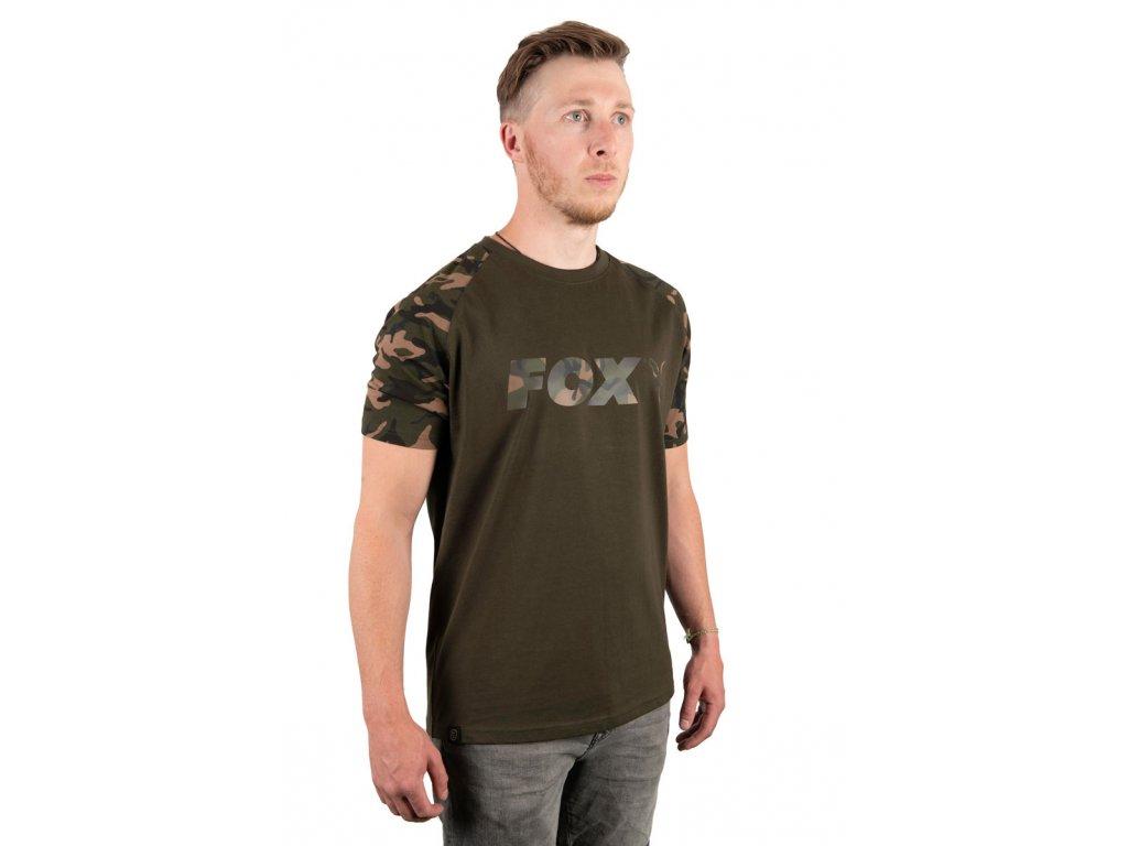 Fox Camo/Khaki Chest Print T-Shirt (Varianta Small)