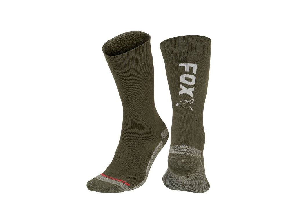 Fox Collection Socks (Varianta Fox Black / Orange Thermolite long sock 6 - 9 (Eu 40-43))