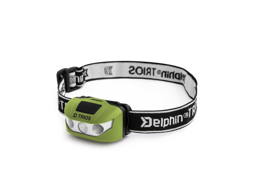 Čelová lampa Delphin TRIOS