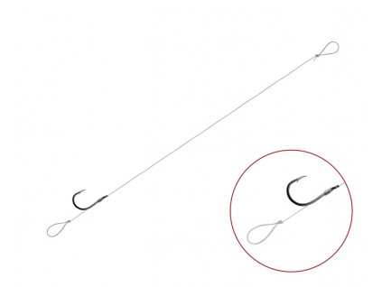 Feederový návazec Delphin FLR Loop / 6ks (Varianta Feederový návazec Delphin FLR Loop / 6ks - 8cm #8)