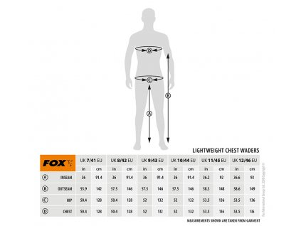 Fox Lightweight Camo Waders (Varianta Size 7 UK / 41 EU)