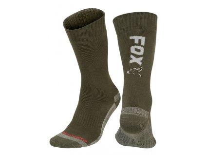 Fox Collection Socks (Varianta Fox Black / Orange Thermolite long sock 6 - 9 (Eu 40-43))