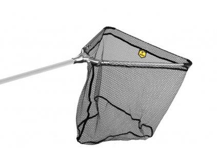 Podběrák Delphin kovový střed, pogumovaná síťka (Varianta Podběrák Delphin kovový střed, pogumovaná síťka - 60x60/170cm)
