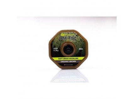 RidgeMonkey RM-TEC Soft Braid jemná pletená šňůrka 25lb/20m|brown