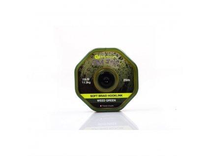 RidgeMonkey RM-TEC Soft Braid jemná pletená šňůrka 25lb/20m|green