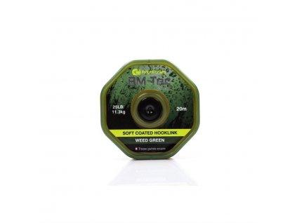 RidgeMonkey RM-TEC Soft Coated potahovaná šňůra 35lb/20m|green