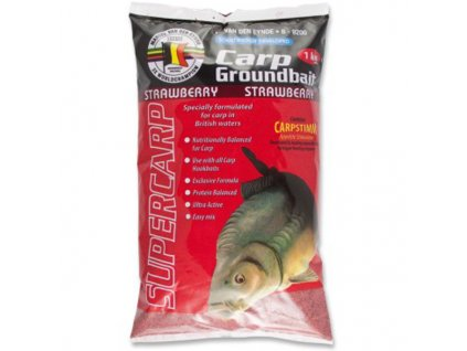 MVDE Carp Groundbait Strawberry 1kg