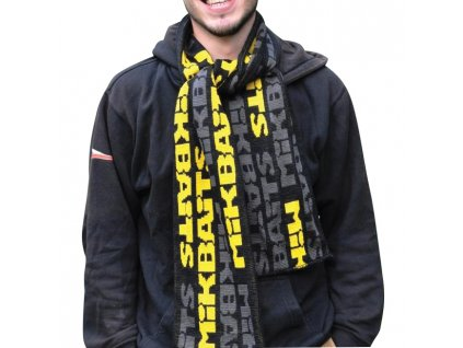 Mikbaits oblečení - Šála černo/šedo/žlutá