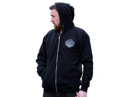 Mikbaits oblečení - Mikina Mikbaits team černá s kapucí XL