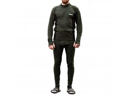 Mikbaits oblečení - Funkční termoprádlo s Merino vlnou zelené XXL